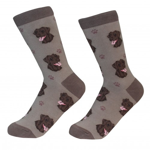 E&S Imports Pet Lover Unisex Socks - Labrador Retriever (chocolate) (800-22)