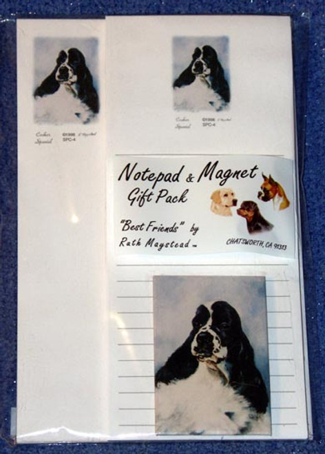 Ruth Maystead Gift Pack - Cocker Spaniel (Black & White) (SPC4)