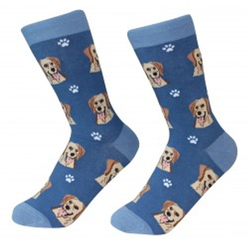 E&S Imports Pet Lover Unisex Socks - Labrador Retriever (yellow) (800-20)