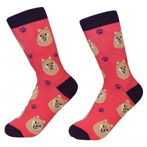 E&S Imports Pet Lover Unisex Socks - Pomeranian (800-27)