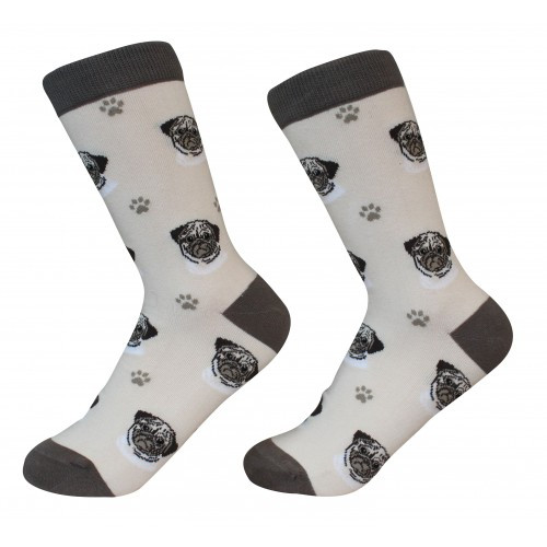 E&S Imports Pet Lover Unisex Socks - Pug (800-31)