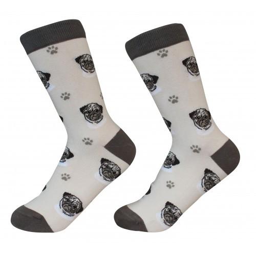 E&S Imports Pet Lover Unisex Socks - Pug (800-31)