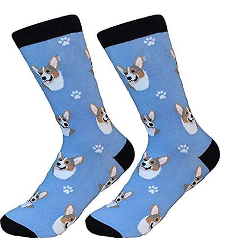 E&S Imports Pet Lover Unisex Socks - Welsh Corgi (800-100)