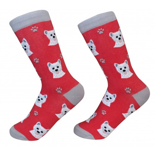 E&S Imports Pet Lover Unisex Socks - West Highland Terrier (Westie) (800-45)