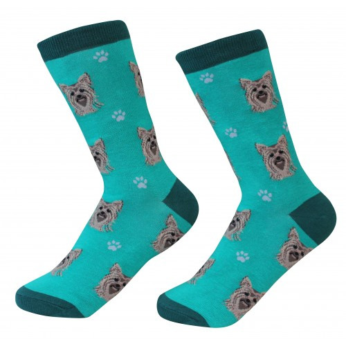 E&S Imports Pet Lover Unisex Socks - Yorkshire Terrier (Yorkie) (800-46)
