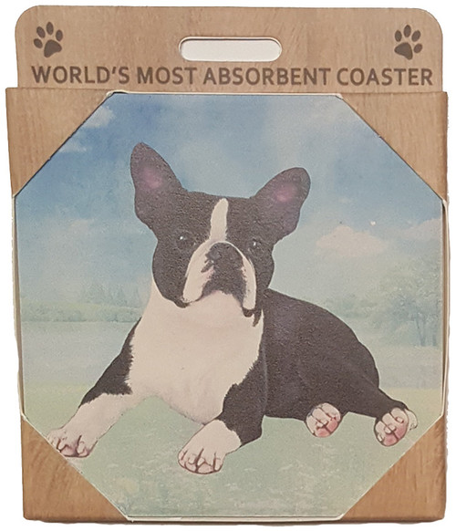 E&S Imports Ceramic Coaster - Boston Terrier (250-76)