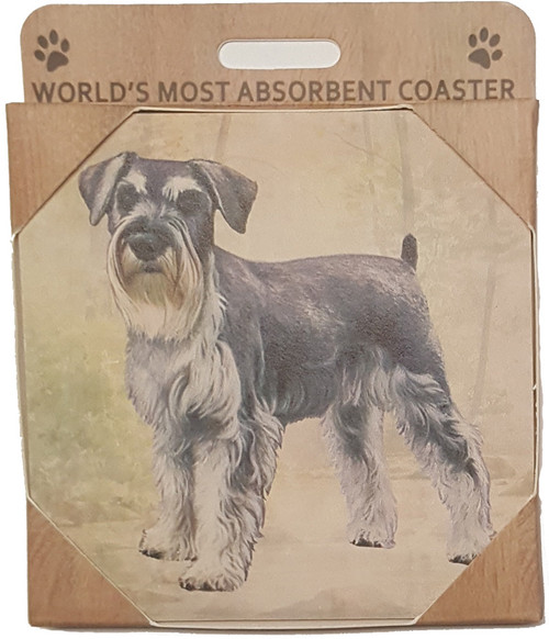 E&S Imports Ceramic Pet Coasters - Schnauzer (Uncropped) (250-105)