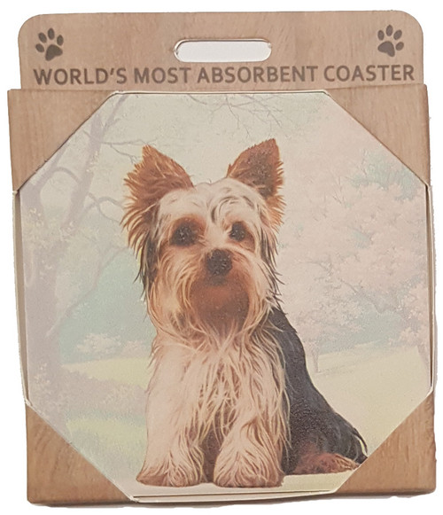 E&S Imports Ceramic Pet Coasters - Yorkshire Terrier (Yorkie Puppy Cut) (E&S-250-107)