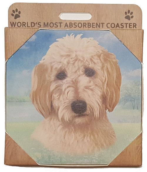 E&S Imports Ceramic Pet Coasters - Goldendoodle (250-134a)
