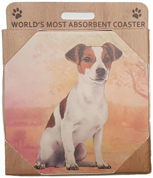 E&S Imports Ceramic Pet Coasters - Jack Russell (250-17)