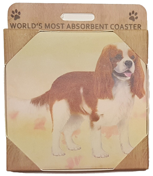 E&S Imports Ceramic Pet Coasters - Cavalier King Charles (250-18)