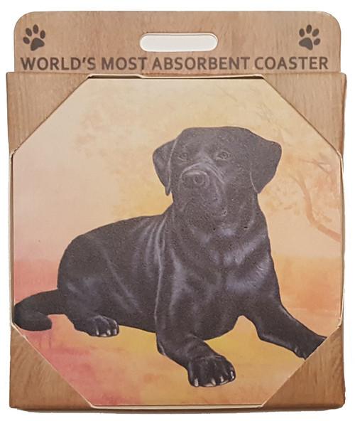 E&S Imports Ceramic Pet Coasters - Black Labrador (250-21)