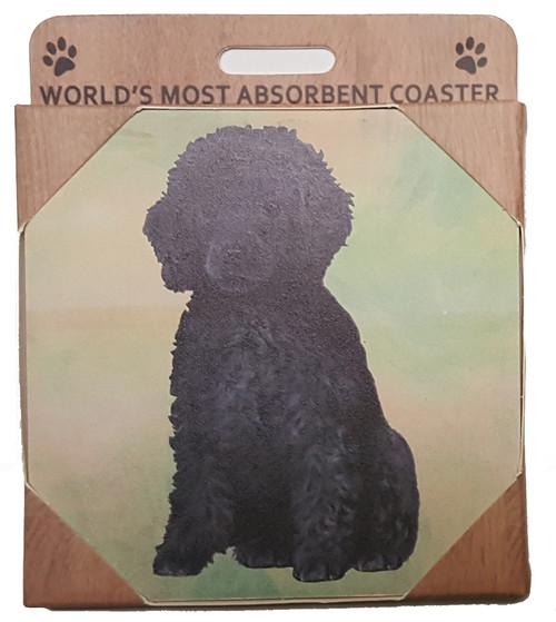 E&S Imports Ceramic Pet Coasters - Poodle (Black) (250-29)