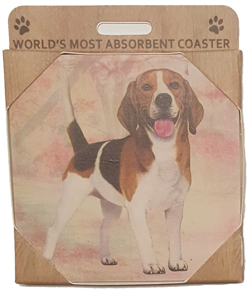 E&S Imports Ceramic Pet Coasters - Beagle (250-3)