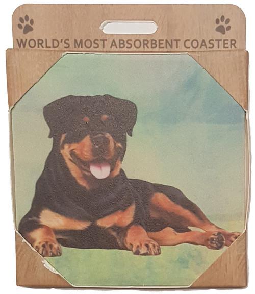 E&S Imports Ceramic Pet Coasters - Rottweiler (250-33)