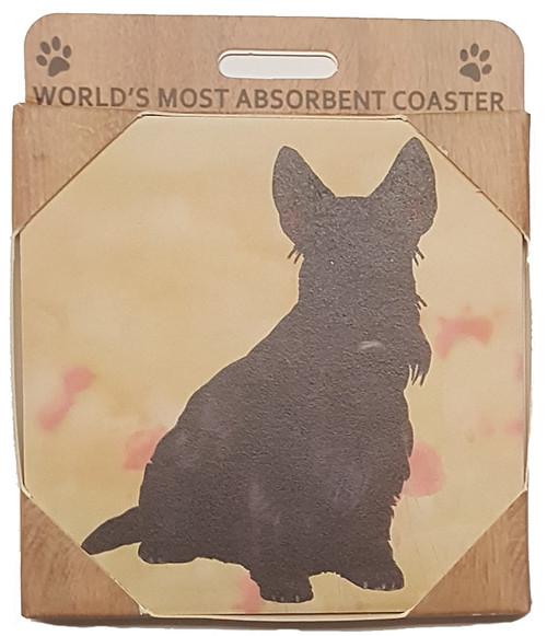 E&S Imports Ceramic Pet Coasters - Scottish Terrier (Scottie) (250-35)