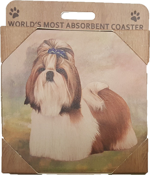 E&S Imports Ceramic Pet Coasters - Shih Tzu (250-38)
