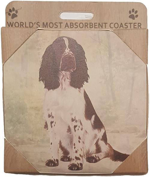 &S Imports Ceramic Pet Coasters - Springer Spaniel (250-42)