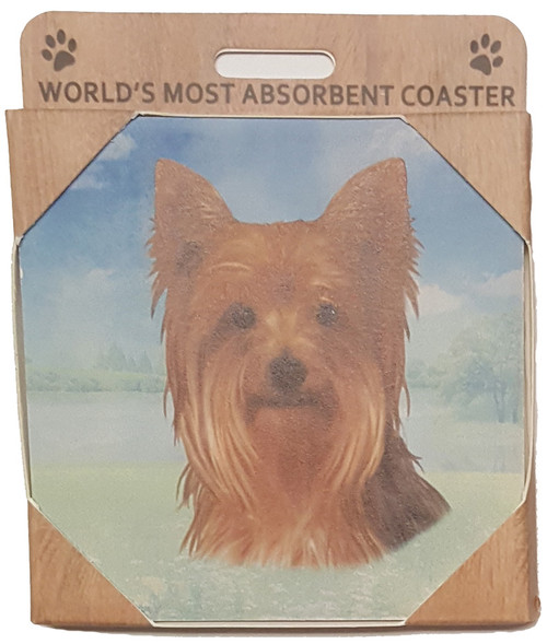 E&S Imports Ceramic Pet Coasters - Yorkshire Terrier (Yorkie) (250-46)