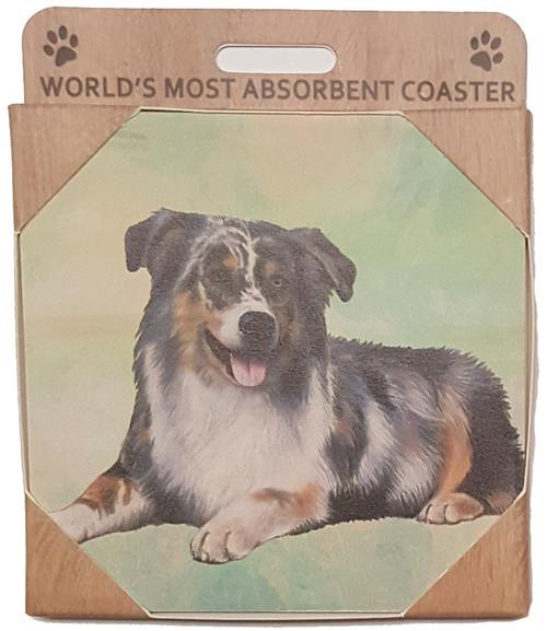 E&S Imports Ceramic Pet Coasters - Australian Shepherd (250-53)