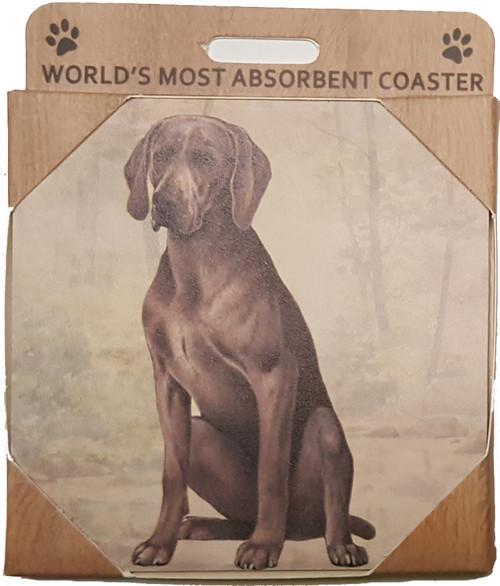 E&S Imports Ceramic Pet Coasters - Weimeraner (250-54)