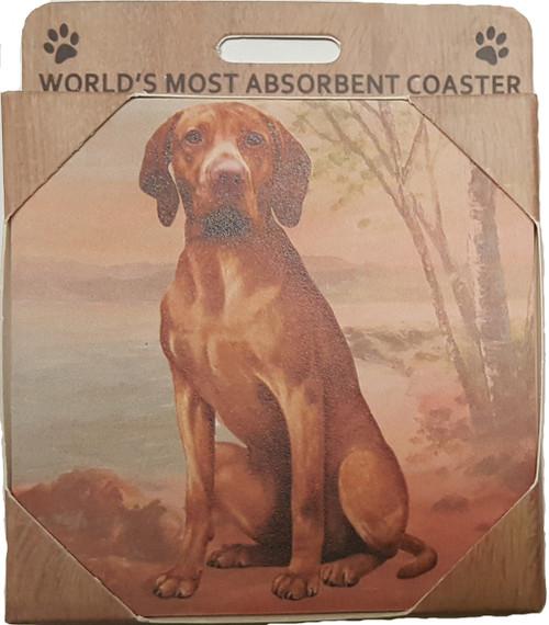 E&S Imports Ceramic Pet Coasters - Vizsla (250-55)