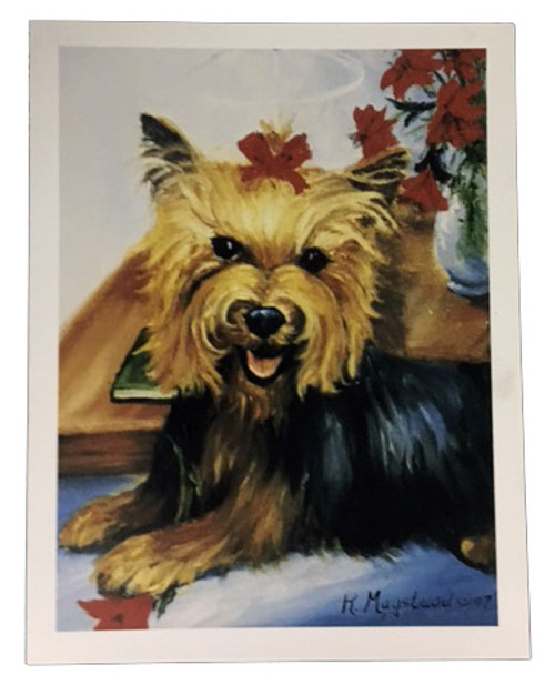 Ruth Maystead Christmas Cards - Yorkie (YOR7X)