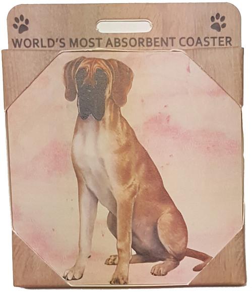E&S Imports Ceramic Pet Coasters - Great Dane (250-66)