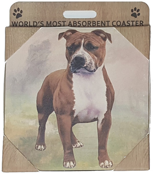 E&S Imports Ceramic Pet Coasters - Pit Bull (250-73)