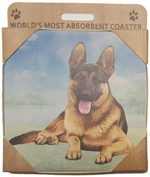 E&S Imports Ceramic Pet Coasters - German Shepherd (250-75)