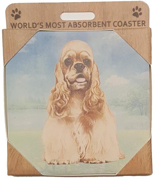E&S Imports Ceramic Pet Coasters - Cocker Spaniel (250-78)