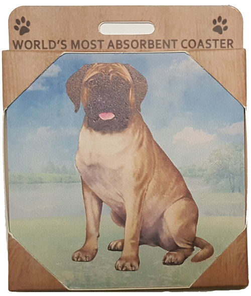 E&S Imports Ceramic Pet Coasters - Bull Mastiff (250-79)