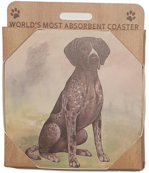 E&S Imports Ceramic Pet Coasters - German Shorthaired Pointer (250-83)