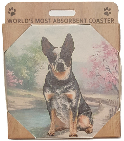 E&S Imports Ceramic Pet Coasters - Australian Cattle Dog (250-90)