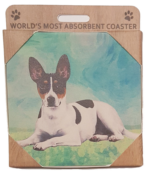 E&S Imports Ceramic Pet Coasters - Rat Terrier (250-92)