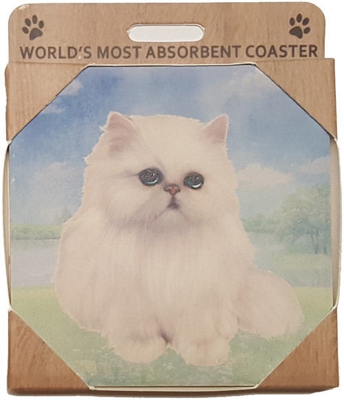 E&S Imports Ceramic Pet Coasters - Persian Cat (251-4)