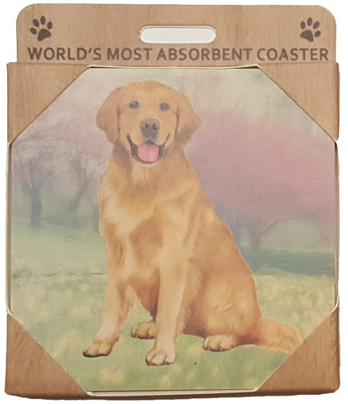 E&S Imports Ceramic Coasters - Golden Retriever (250-15)