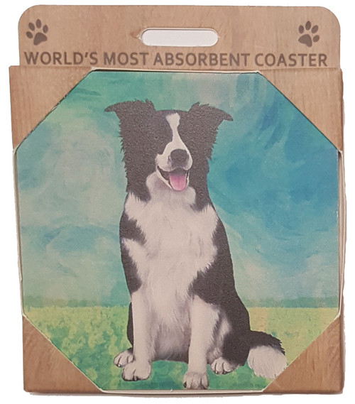 E&S Imports Ceramic Coasters - Border Collie (250-5)