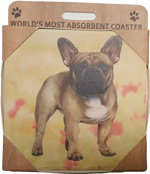 E&S Imports Ceramic Coasters - French Bulldog (250-64)