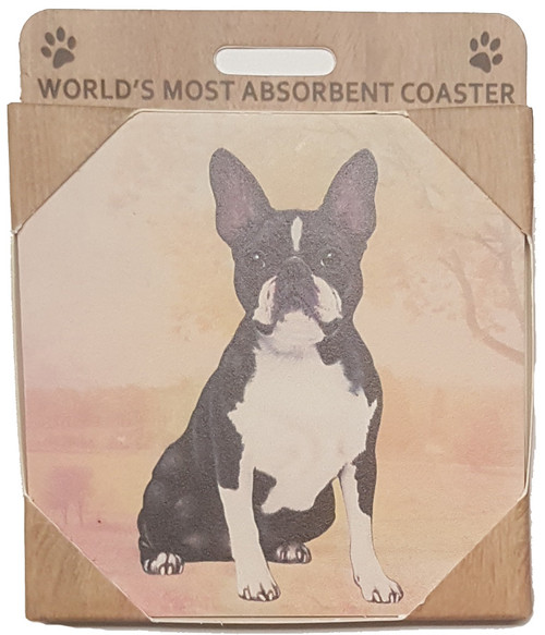 E&S Imports Ceramic Coasters - Boston Terrier (250-76a)