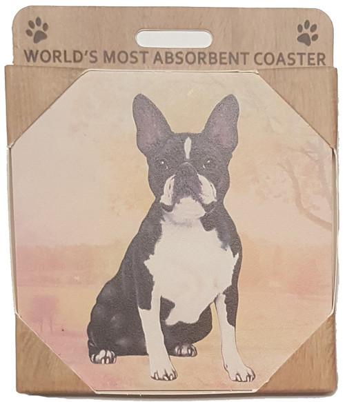 E&S Imports Ceramic Coasters - Boston Terrier (250-76a)