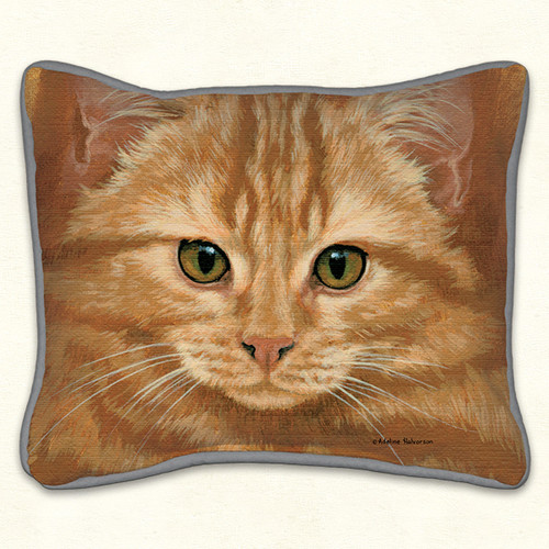 Fiddlers Elbow Orange Tabby Cat 14x16 Pillow (99)