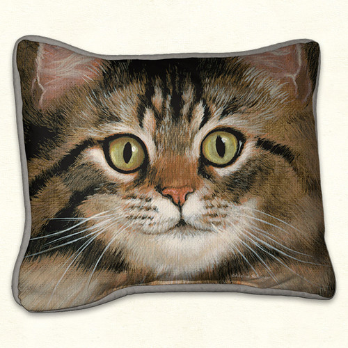 Fiddlers Elbow Grey Tabby Cat 14x16 Pillow (90)
