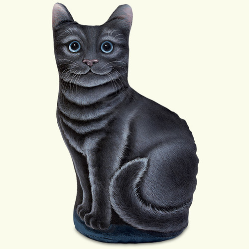 Fiddlers Elbow Black Kitty Cat Paperweight Doorstop (304)