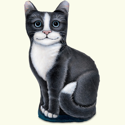 Fiddlers Elbow Black & White Kitty Cat Paperweight Doorstop (303)