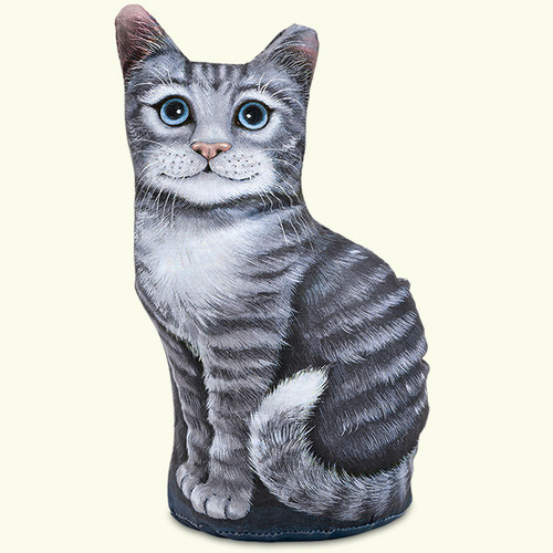 Fiddlers Elbow Grey Tabby Kitty Cat Paperweight Doorstop (302)