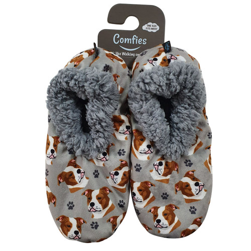 Comfies Pit Bull Pet Lover Slippers by E&S Imports (281-26)
