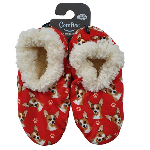 Comfies Pet Lover Slippers by E&S Imports - Chihuahua-Fawn (281-10)
