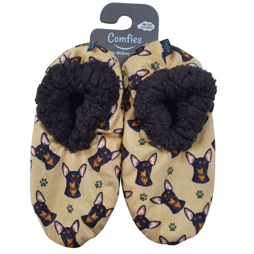 Comfies Pet Lover Slippers by E&S Imports - Chihuahua-Black (281-11)