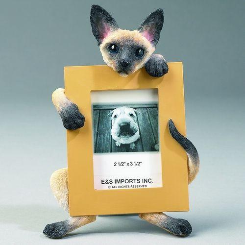 E&S Imports 2.5in x 3.5in Cat Picture Frame - Siamese (E&S-35316-7)